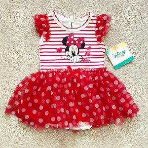 Red & white Baby Girls' Minnie Mouse tutu dress
